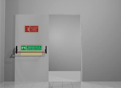 Portes coupe feu comment les signaliser sinalux - Porte double battant coupe feu prix ...